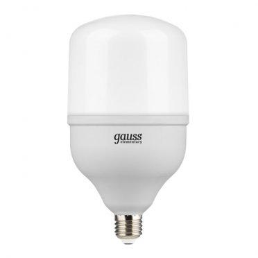 Лампа светодиодная Gauss 42 Вт E27 цилиндр T120 6500 К холодный свет 180-240 В матовая