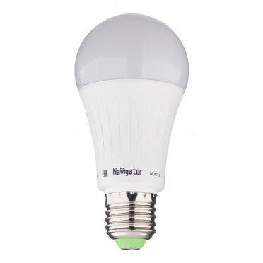 Лампа светодиодная Navigator 15 Вт E27 груша A60 4000 К дневной свет 127 В матовая