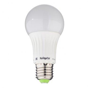 Лампа светодиодная Navigator 12 Вт E27 груша A60 4000 К дневной свет 127 В матовая