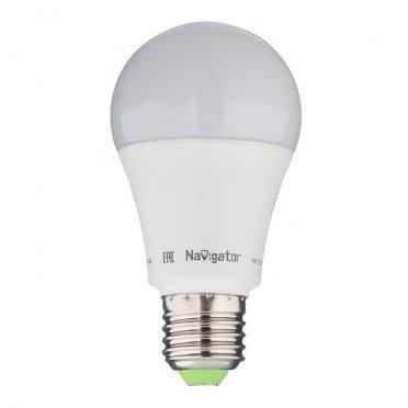 Лампа светодиодная Navigator 12 Вт E27 груша A60 4000 К дневной свет 24-48 В матовая
