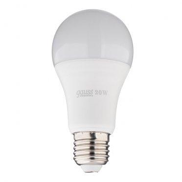 Лампа светодиодная Gauss Elementary 20 Вт E27 груша A60 4100 К дневной свет 180-240 В матовая