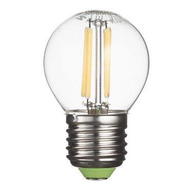 Лампа светодиодная Navigator 4 Вт E27 филаментная шар 2700 К теплый свет 230 В прозрачная