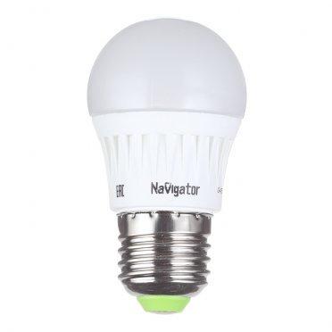 Лампа светодиодная Navigator 7 Вт E27 шар G45 2700 К теплый свет 230 В матовая диммируемая