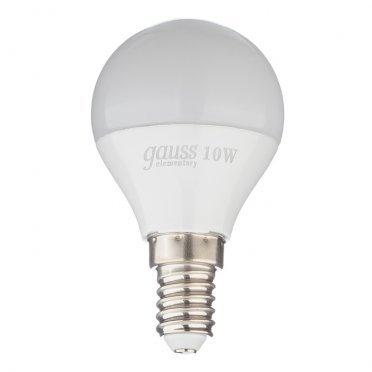 Лампа светодиодная Gauss Elementary 10 Вт E14 шар 4100 К дневной свет 180-240 В матовая