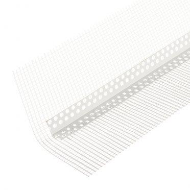 Профиль углозащитный мягкий пластиковый с сеткой 100х100 мм 25 м