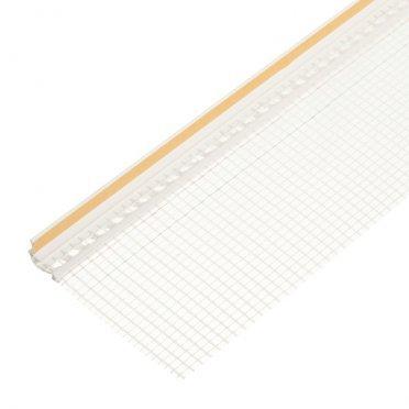 Профиль примыкания оконный самоклеящийся с сеткой 6 мм 2.4 м пластиковый