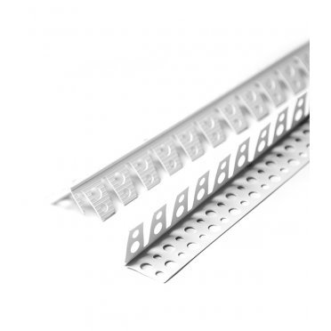 Профиль углозащитный арочный перфорированный 25х25 мм 3 м пластиковый