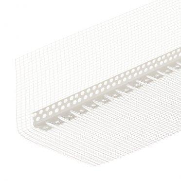 Профиль углозащитный арочныйпластиковый 25х25 ммссеткойизстекловолокна100х150мм2,5м