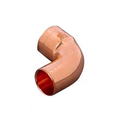 Угол однораструбный Viega под наружную/внутреннюю пайку 18 мм 90° медный