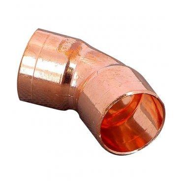 Угол двухраструбный Viega под внутреннюю пайку 18 мм 45° медный