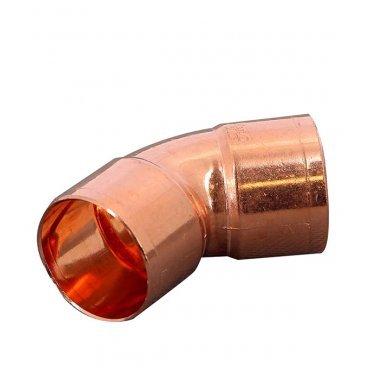 Угол двухраструбный Viega под внутреннюю пайку 28 мм 45° медный