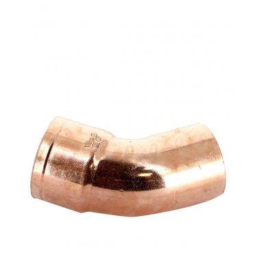 Угол однораструбный Viega под наружную/внутреннюю пайку 28 мм 45° медный