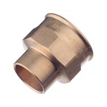 Муфта Viega под внутреннюю пайку 18 мм х 3/4 ВР(г) медная