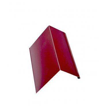 Планка карнизная для металлочерепицы 50х100 мм 2 м красное вино RAL 3005