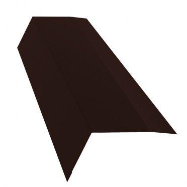 Планка карнизная для металлочерепицы 100х65 мм 2 м Стальной бархат коричневая RAL 8017