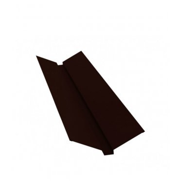 Ендова внешняя PE 115х30х115 мм 2 м темно-коричневая RR 32