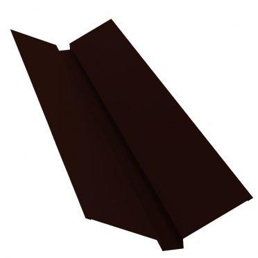 Ендова внешняя для металлочерепицы 115х30х115 мм 2 м темно-коричневая RR32 матовый