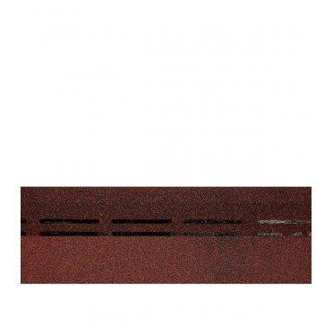 Черепица гибкая коньково-карнизная Docke PIE Simple/Europa красный 7,26 кв.м
