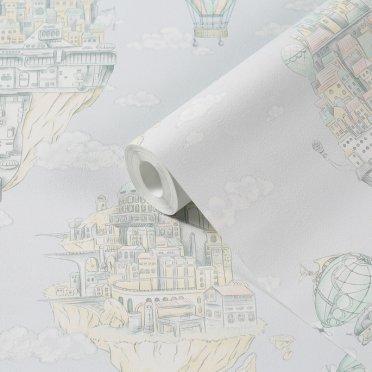 Обои компакт-винил на флизелиновой основе МИР Летающий город 45-240-02 (1,06х10 м)