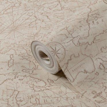 Обои виниловые на бумажной основе Маякпринт Регата 582 313 02 (0,53х10 м)