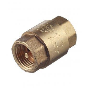 Клапан обратный Tiemme 1/2 ВР(г) x 1/2 ВР(г) латунный золотник