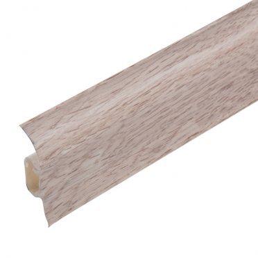 Плинтус напольный пластиковый с мягким краем Lider 50 мм дуб пепельный светлый (50х20х2500 мм)