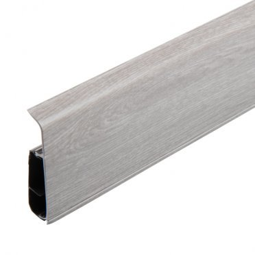 Плинтус напольный пвх Salag Lima 72 мм серый гладстоун 2500 мм