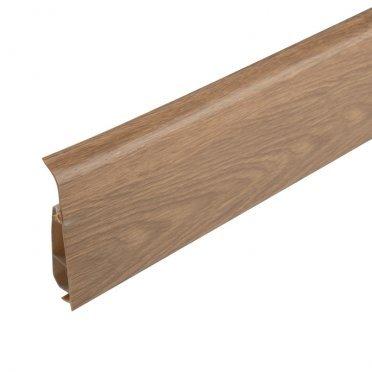 Плинтус напольный пластиковый Salag Lima 72 мм дуб бурбон натур 2500 мм