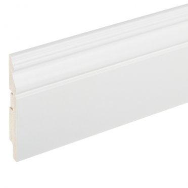 Плинтус МДФ напольный Cosca Décor 125x16x2400 мм под покраску белый