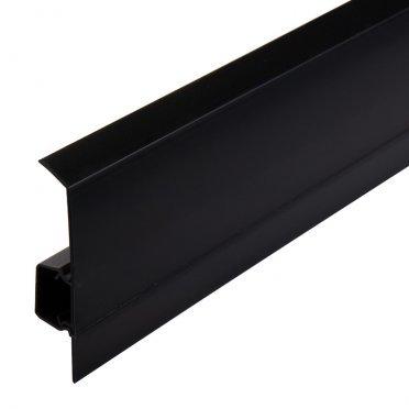 Плинтус напольный пластиковый Salag NG 80 мм черный 2500 мм