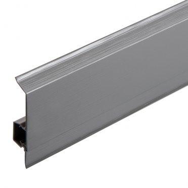 Плинтус напольный пвх Salag NG 62 мм алюминий структура 2500 мм