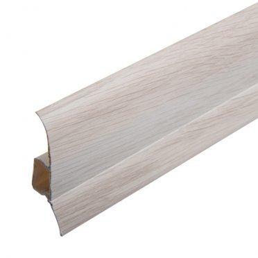 Плинтус напольный пвх Lider 75 мм дуб седой 2500 мм с мягким краем
