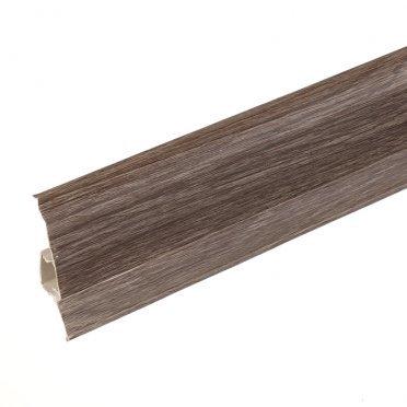 Плинтус напольный пвх Lider 75 мм дуб традиционный 2500 мм с мягким краем