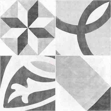 Apeks Керамогранит декорированный серый (AS4R092D) 42x42