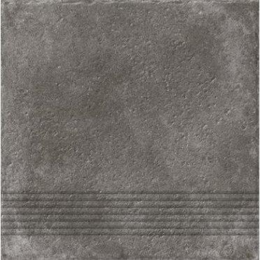 Керамическая плитка Carpet Ступень рельеф, темно-коричневый (C-CP4A516D) 29,8х29,8