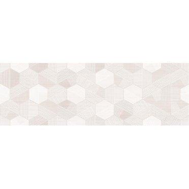 Керамическая плитка Lin вставка гексагон бежевый (LN2S012DT) 20x60
