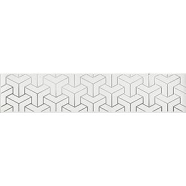 Плитка Ломбардиа Бордюр белый AD\A569\6397 25х5,4