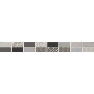 Fiori Grigio Бордюр металлизированный 1506-0101 6,5х60