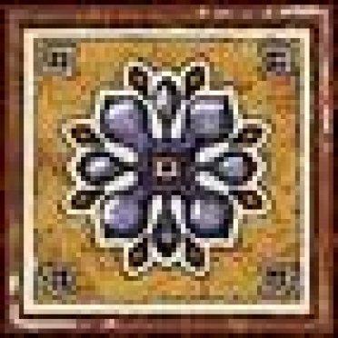 Керамогранит Котто (сине-терракотовый) Вставка 6х6
