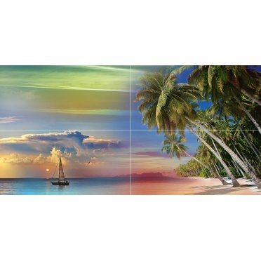Керамическая плитка Tropical Night Панно P4D290 80х40 (из 4 плиток)