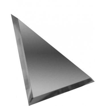 Треугольная зеркальная графитовая плитка с фацетом 10мм ТЗГ1-01 - 180х180 мм/10шт