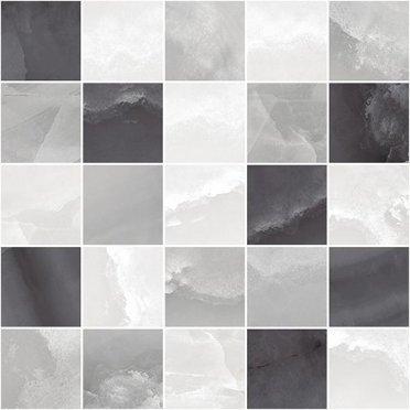 Prime Декор мозаичный серый микс MM34040 25х25
