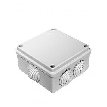 Коробка распределительная Промрукав для открытой установки 100х100х50 мм 6 вводов серая IP55 безгалогенная