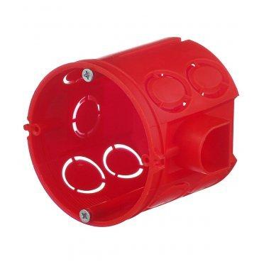 Подрозетник Промрукав для бетона d68х62 мм 11 вводов красный IP20 с винтами с соединителями безгалогенный