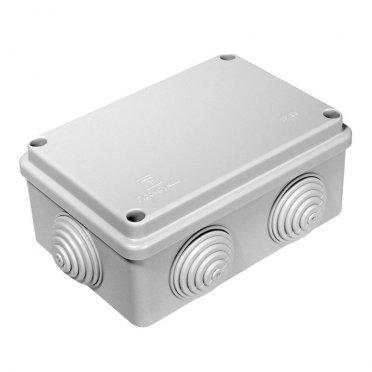 Коробка распределительная Промрукав для открытой установки 120х80х50 мм 6 вводов серая IP55 безгалогенная