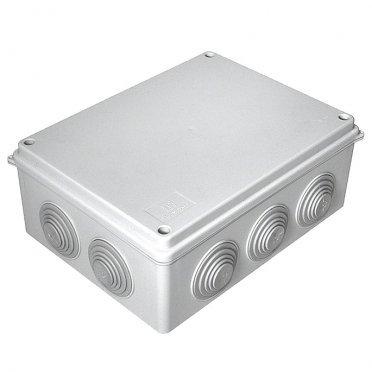 Коробка распределительная Промрукав для открытой установки 200х150х75 мм 10 вводов серая IP55 безгалогенная
