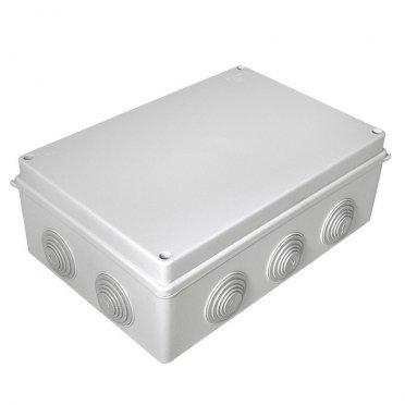 Коробка распределительная Промрукав для открытой установки 260х175х90 мм 10 вводов серая IP55 безгалогенная