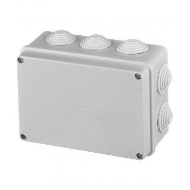 Коробка распределительная Промрукав для открытой установки 150х110х70 мм 10 вводов серая IP55 безгалогенная