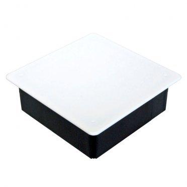 Коробка распределительная Промрукав для скрытой установки в бетон 103х103х47 мм 20 вводов черная IP20 с крышкой безгалогенная