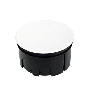 Коробка распределительная Промрукав для скрытой установки в бетон d76х42 мм 7 вводов черная IP20 с крышкой безгалогенная
